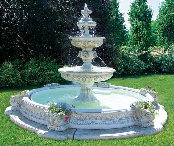 tháp phun nước đẹp