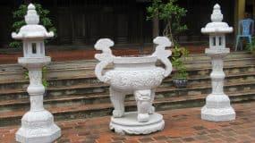 Mẫu lư hương đá đẹp được làm tại Ninh Vân, Ninh Bình