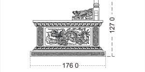 Bản thiết kế mẫu mộ đôi tam sơn đẹp