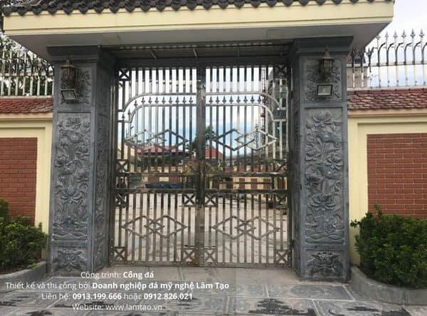 cột cổng bằng đá