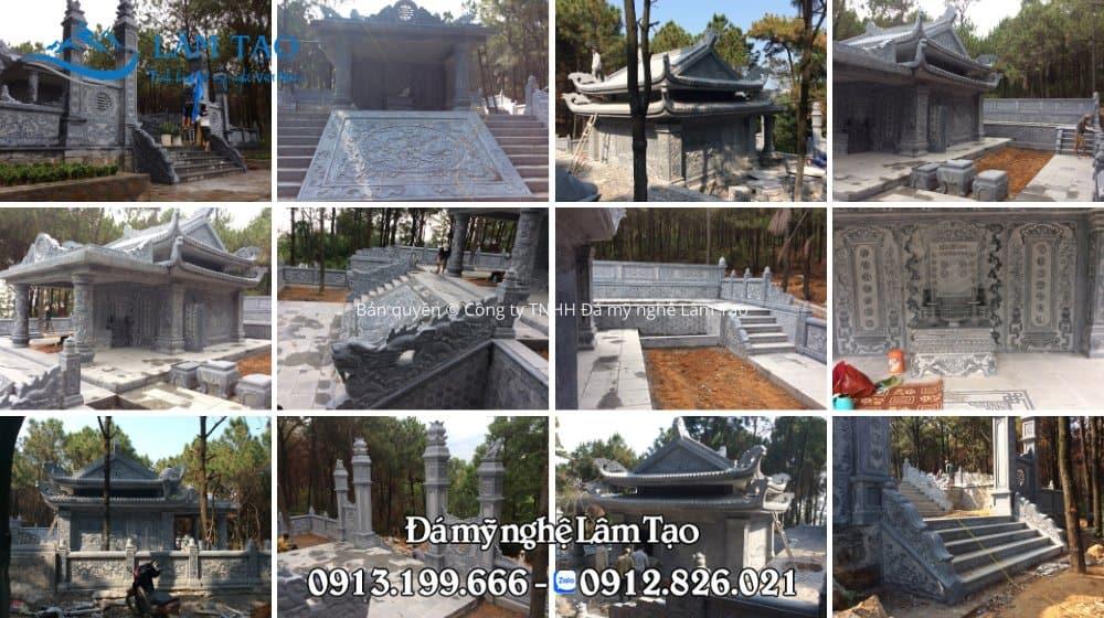 Khu lăng mộ đá cao cấp được công ty TNHH Đá mỹ nghệ Lâm Tạo thiết kế, chế tác tại Ninh Bình sau đó được vận chuyển và lắp đặt hoàn thiện cho gia chủ tại Đồ Sơn, Hải Phòng