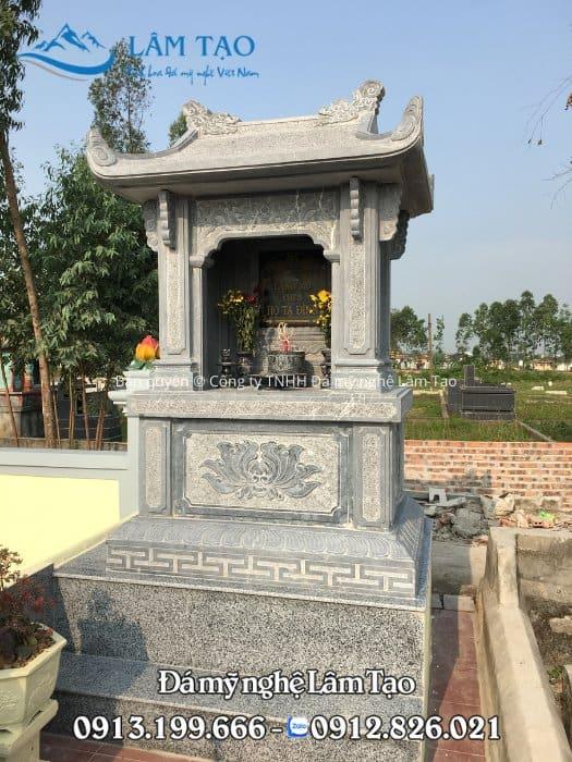 Mẫu mộ đá một mái đẹp cho khuôn viên khu lăng mộ gia tộc