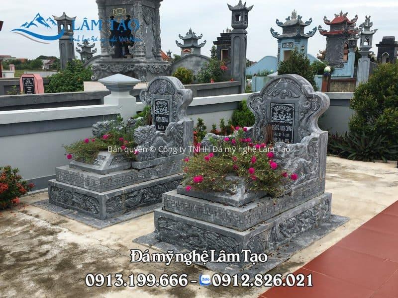 Lăng mộ Tam Sơn đẹp chạm khắc hoa văn tinh sảo được lắp tại tỉnh Phú Thọ