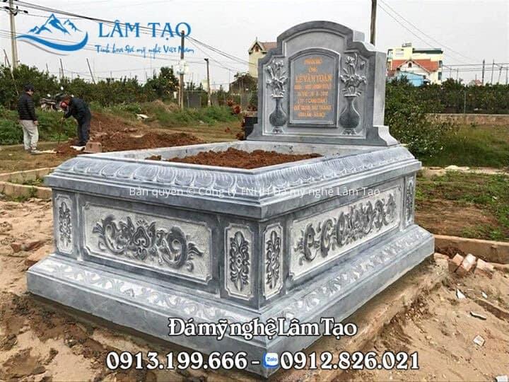 Ngôi mộ Tam Sơn nguyên khối kích thước 89x147 cm