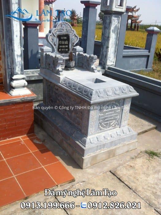 Lăng mộ đá Tam Sơn đẹp bằng đá xanh tự nhiên tại Ninh Bình