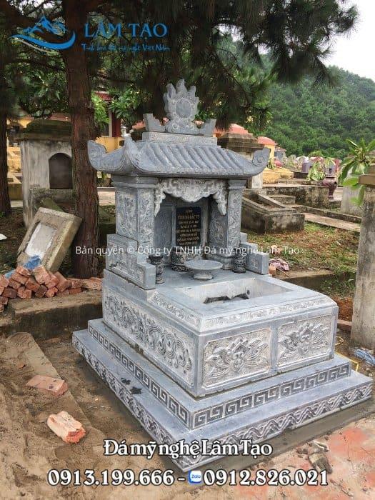 Ngôi mộ đôi nhỏ kích thước 81x127 được công ty lắp đặt tại tỉnh Quảng Trị