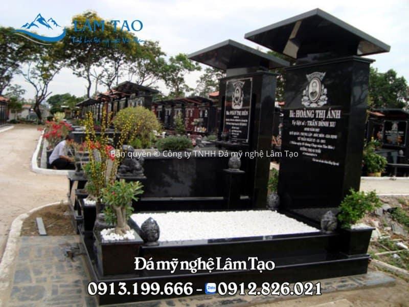 Mẫu lăng mộ bằng đá hoa cương lắp đặt tại TP. Hồ Chí Minh