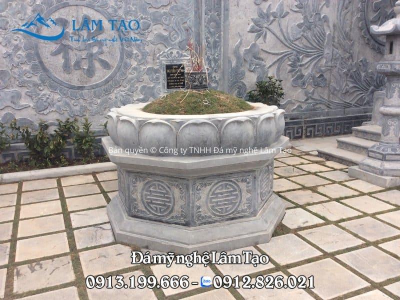 Mẫu mộ bát giác đẹp, thiết kế đệp được lắp đặt hoàn thiện tại khu nghĩa trang Quang Trung, Hải Phòng
