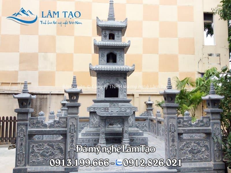 Mẫu mộ tháp ba tầng đẹp