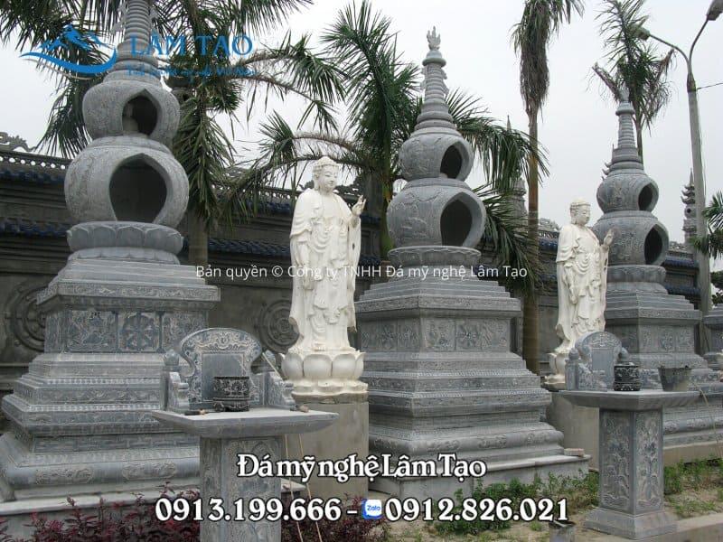 Mẫu mộ tháp đẹp độc đáo mỗi tháp là một hình quả cầu