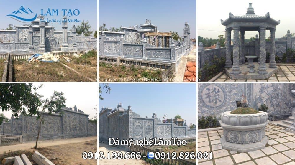 Khu lăng mộ bằng đá cao cấp lắp đặt tại Quang Trung, Hải Phòng
