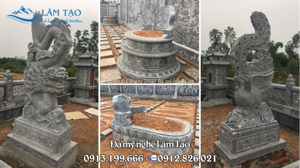 Khu lăng mộ bằng đá, chạm khắc hoa văn tinh sảo mang nét đẹp truyền thống và hiện đại kết hợp với nhau tại Nghệ An