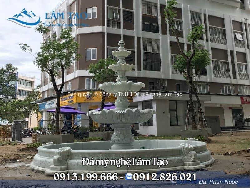 Công trình đài phun nước tại khu chung cư cao cấp Monarchy Đà Nẵng