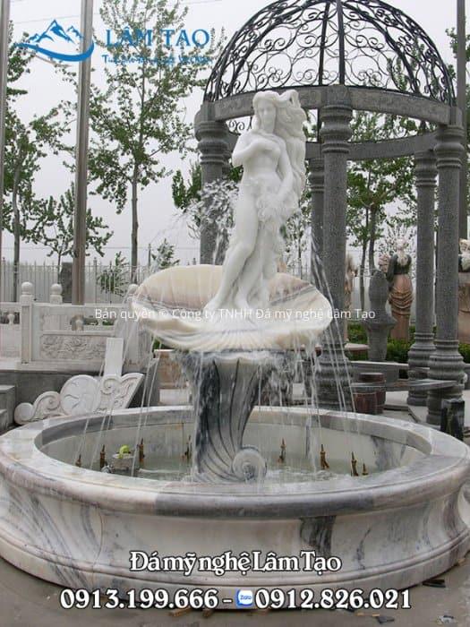 Tượng đài phun hình mỹ nhân được điêu khắc bởi những nghệ nhân Đà Nẵng