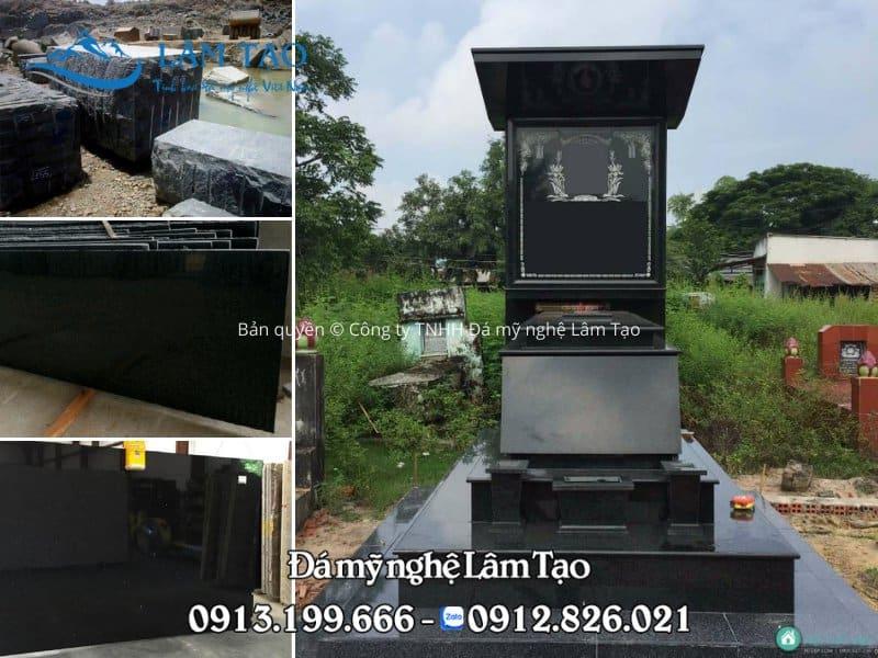 Đá Granite đen khai thác tại mỏ đá Bình Định
