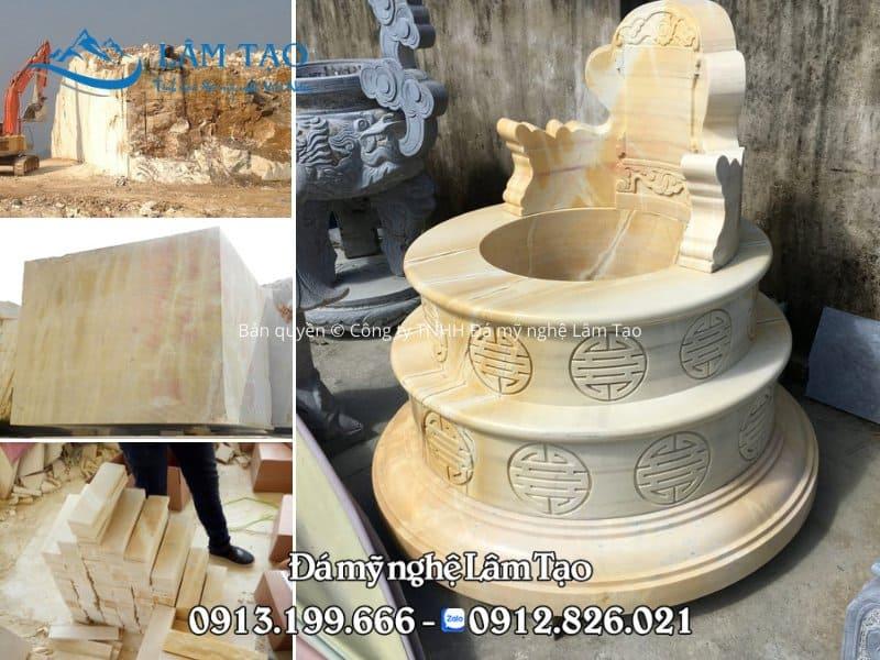 Đá vàng khai thác tại mỏ đá Quỳ Hợp, Nghệ An