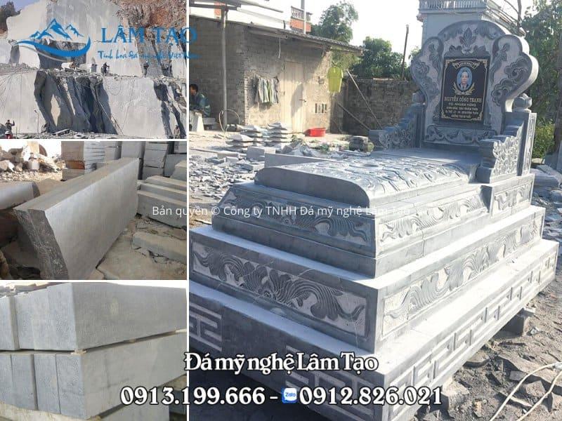 Lăng mộ đá Tam Sơn làm bằng đá xanh Thanh Hóa