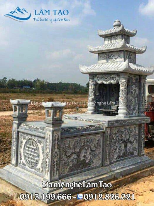 giá mộ đá ba mái Ninh Bình