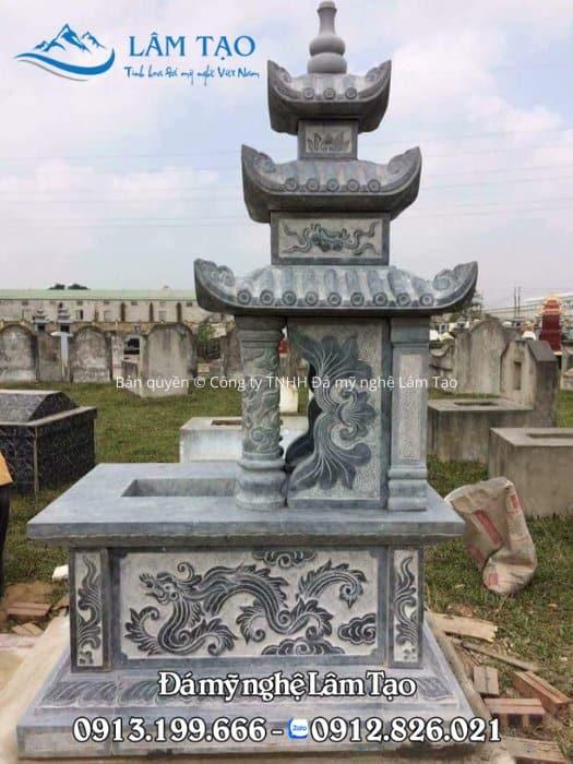 mẫu mộ đá ba mái giá rẻ