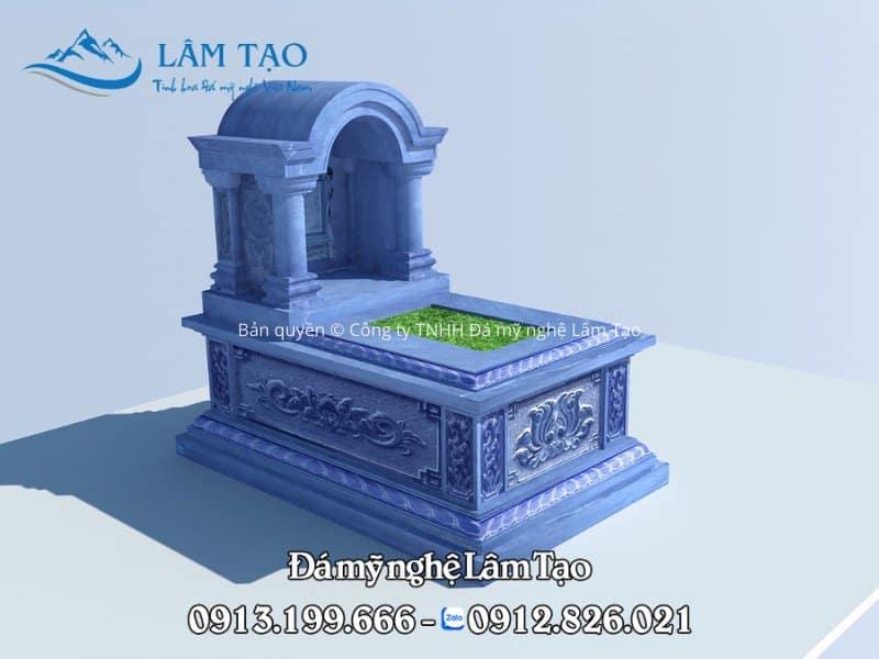 Bản vẽ phối cảnh 3DS-Max ngôi mộ đá mái vòm cho khách hàng tại tỉnh Bắc Giang