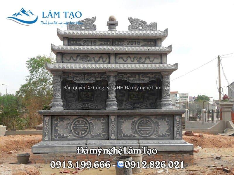 mộ đôi ba mái giá bao nhiêu tiền
