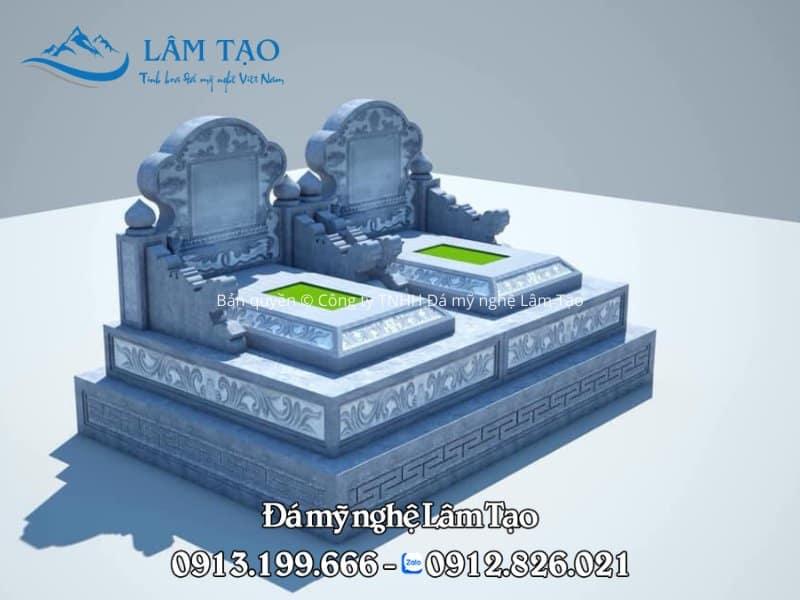 Dựng phối cảnh 3D cho khách hàng tham khảo và đưa ra phương án lựa chọn cũng như tâm nguyện của khách hàng mong muốn ngôi mộ trước khi xây dựng