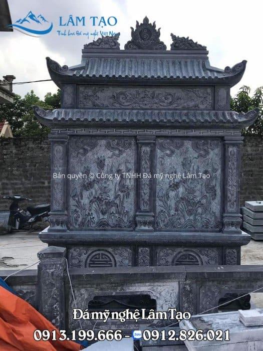 Thi công mộ đôi bằng đá ở Ninh Bình
