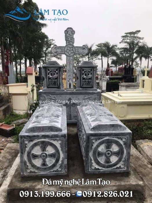 Hình ảnh mẫu mộ công giáo không mái