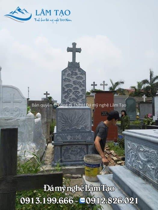 giá mộ đá công giáo Ninh Bình