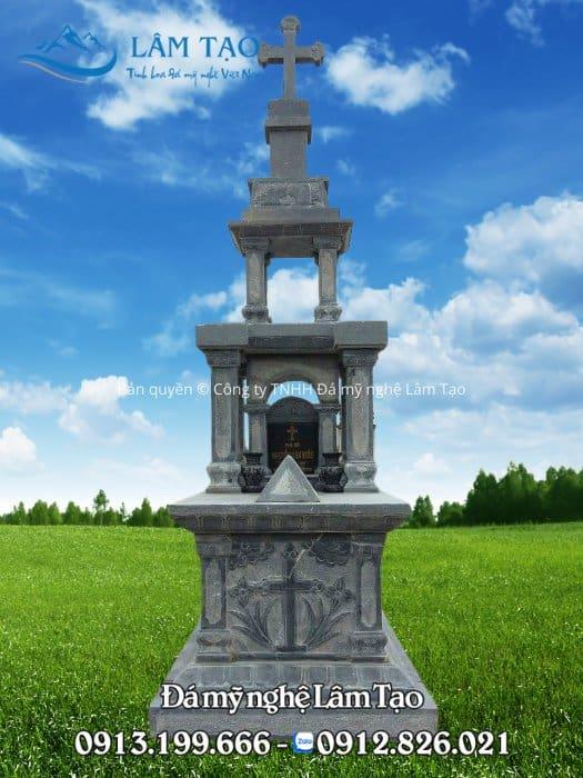 hình ảnh mộ đá công giáo xanh