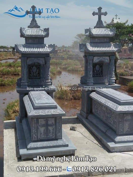 mẫu mộ đá công giáo Ninh Bình