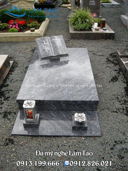 Hình ảnh mộ đá granite Ninh Bình