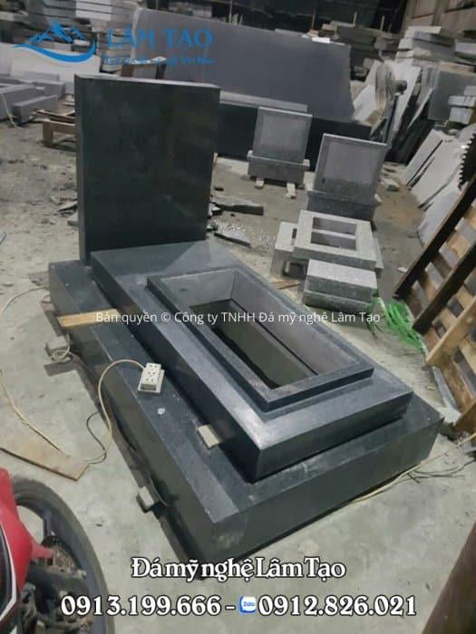 mẫu mộ đá granite đen