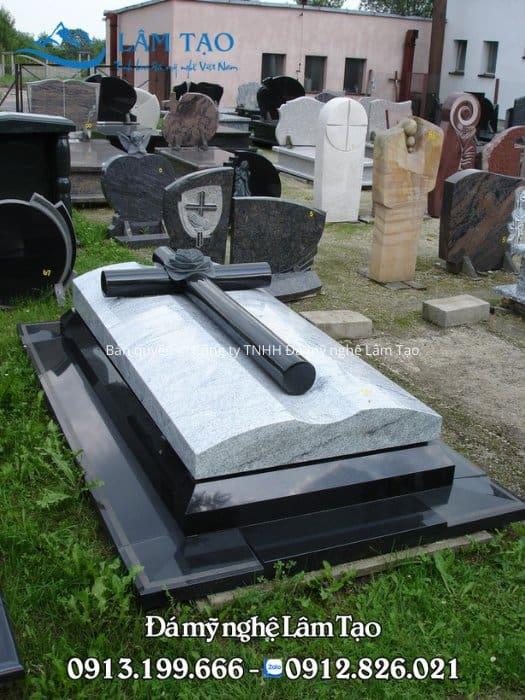 mẫu mộ đá hoa cương đen