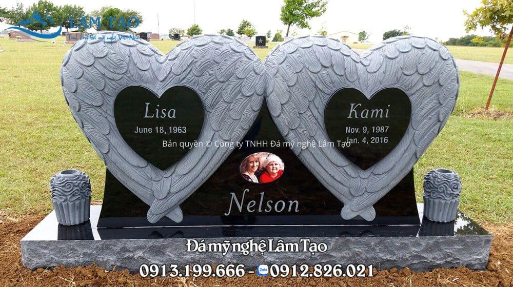 hình ảnh mộ đá granite đen