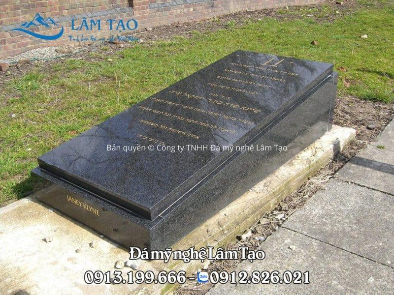 mộ đá hoa cương đen