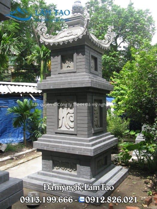 Hình ảnh mẫu mộ tháp đẹp bằng đá tự nhiên