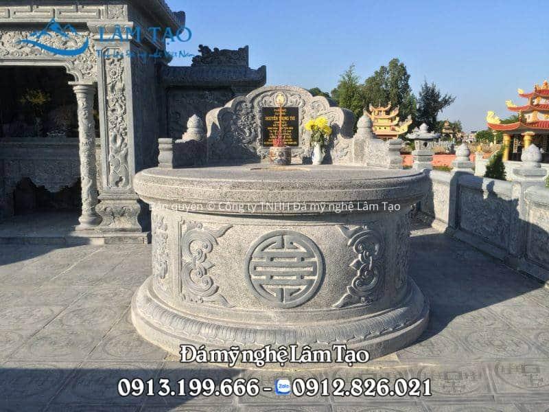 mẫu mộ tròn bằng đá xanh Thanh Hóa