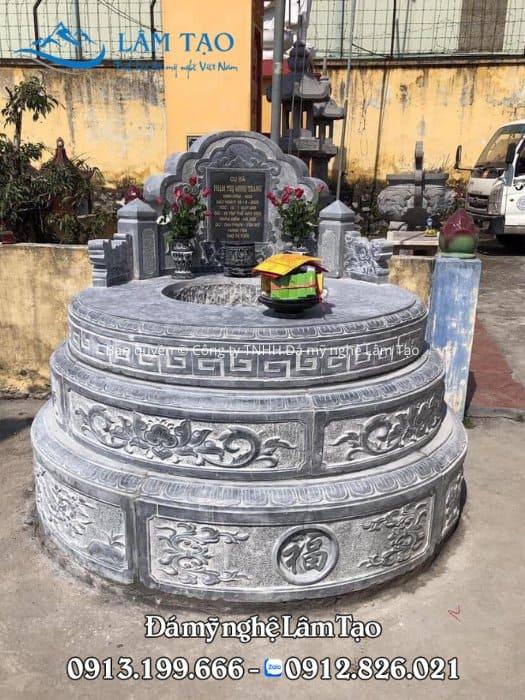Báo giá mộ đá tròn