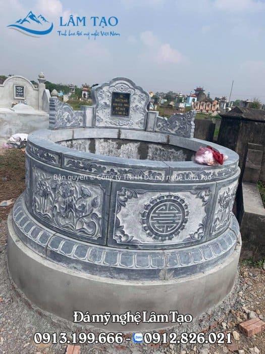 giá mộ đá tròn