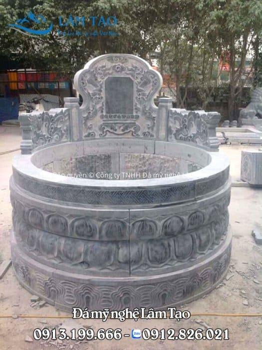 Mua mộ tròn bằng đá giá rẻ