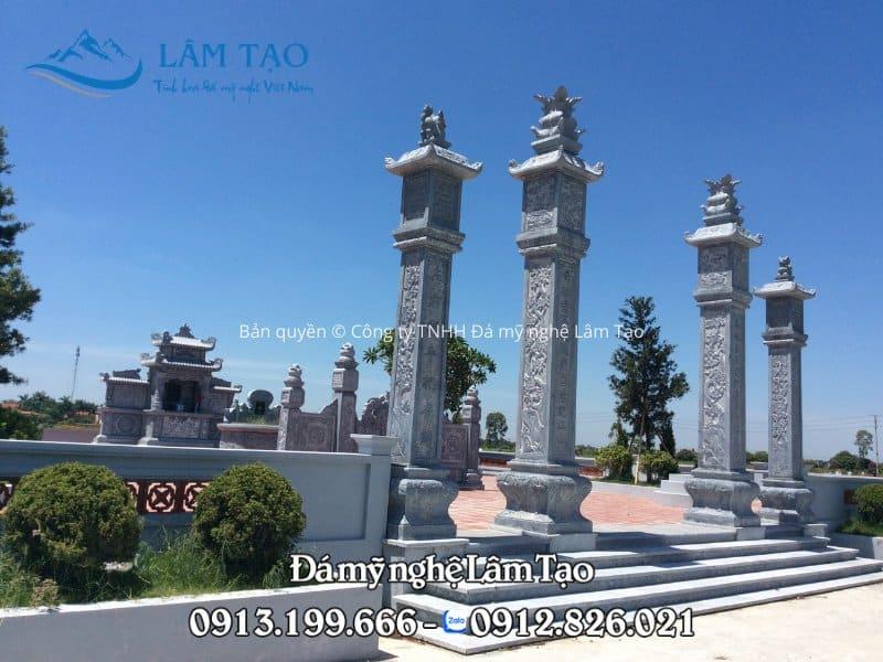 Mẫu cột đá đẹp được thiết kế và thi công bởi Công ty TNHH Đá mỹ nghệ Lâm Tạo